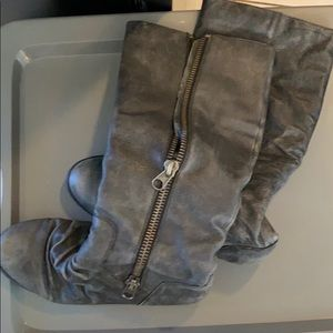 Shoes - Navy blue boots